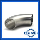Polacco sanitario dello specchio della saldatura dell'acciaio inossidabile un gomito da 45 gradi