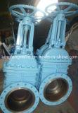 Soupape à vanne d'extrémité de bride de norme ANSI avec de l'acier du carbone