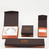 Последняя коробка ювелирных изделий бумаги Kraft цены с гравировкой логоса (J78-E)
