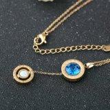 Jóias de jóias de aço inoxidável jóias de moda pingente de colar de pingente de cristal