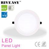 7W panneau rond d'éclairage LED de l'acrylique LGP avec le grand panneau d'éclairage LED de radiateur