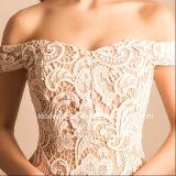 Robe de mariage nuptiale en gros de circuit de détail de lacet de robes de soirée Te21