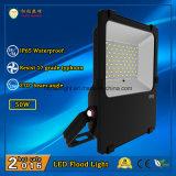 110lm/W와 270 도 광속 각과 옥외 사용을%s 빛 3 년 보장 LED 플러드 50W IP65