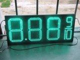 Indicador ambarino verde vermelho ao ar livre do sinal do diodo emissor de luz do número do posto de gasolina da placa do sinal do diodo emissor de luz do preço do petróleo do diodo emissor de luz da cor