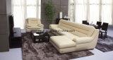 Sofà domestico di legno del cuoio del salone della mobilia (UL-NS215)