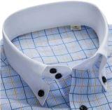 샐러리맨과 팔목을%s 가진 파랑과 황색 검사 남자 셔츠