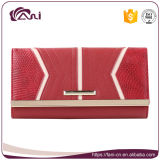 札入れの女性、赤いカラーPUの革方法女性の財布の高品質