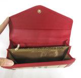 Бумажник PU женщин щитка картины решетки складывая кожаный
