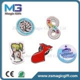 Kundenspezifischer rotes Kleid-fester Drucken-ReversPin mit Epoxidabdeckung