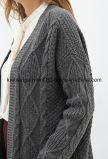 Cardigan lungo del maglione di vendite calde di modo della ragazza dell'OEM (W18-249)