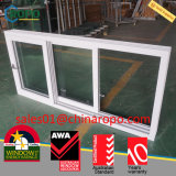 Case triple Windows coulissant, norme de carreau d'UPVC de l'Australie de guichet d'UPVC
