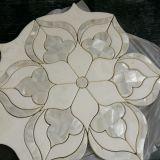 Waterjet van de Steen van de bloem het Marmeren Mozaïek/Patroon van het Medaillon voor Vloer