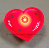 Pinos feitos sob encomenda piscar do diodo emissor de luz da forma do coração com logotipo impressos (3161)