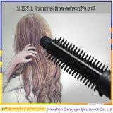 O barbeiro por atacado fornece 3 em 1 Straightener cerâmico profissional do cabelo, encrespador, escova