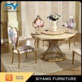 Cadeira Home do restaurante do ouro da mobília com pano floral