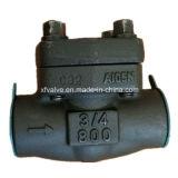 API602 forjó la válvula de verificación del NPT del extremo de cuerda de rosca del acero de carbón A105