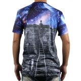 T-shirt fait sur commande de mode de pleine impression faite sur commande neuve de sublimation (238)