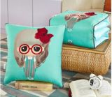 2 en almohadilla al aire libre del algodón 1travel del amortiguador del sofá de tiro de la manta de lino de múltiples funciones combinada de la almohadilla