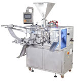 Máquina de rellenar del polvo automático de la botella con la línea que capsula maquinaria de etiquetado