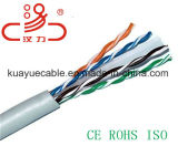 Cable del gato 6 UTP o cables del gato 6/cable del audio del conector de cable de la comunicación de cable de datos del cable del ordenador