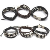 Hand Accessories für Men Anchor Clasp Leather Bracelet