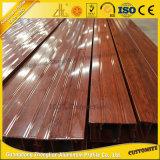 L'extrusion en aluminium des graines en bois les plus neuves pour simulent la porte en bois avec les pistes personnalisées en aluminium