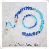 Collana cattolica del rosario dei branelli, braccialetto del rosario, rosario con il centro della Mary di Virgin (IO-cr012)