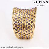 Brazalete abierto de la CZ de la joyería encantadora de lujo del oro de la manera B-110 con la piedra violeta