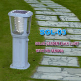 Luz solar inoxidable al aire libre del jardín LED de alta luminancia LED 12W
