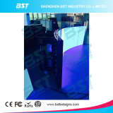 LED curvo P4 flessibile che fa pubblicità allo schermo di visualizzazione con l'angolo di visione di 140 gradi