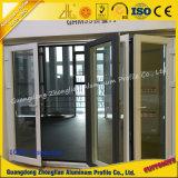 Perfil de alumínio da porta do fornecedor de alumínio com grão anodizada ou de madeira