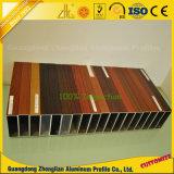 Perfil de aluminio del grano de madera de la transferencia de Customzied PVDF/Heat para la decoración