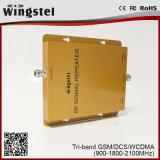 세 배 악대 900/1800/2100MHz 이동 전화 신호 중계기 GSM/3G/1800MHz 신호 증폭기