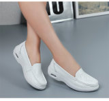 leather Nurses Shoes 백색 숙녀