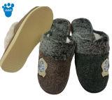 暖かい屋内冬の編まれるの柔らかいスリッパの靴