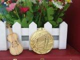 Ferro personalizado que carimba a medalha chapeada ouro do voleibol