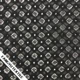 Tessuto bianco/nero del merletto del cotone di disegno della cavità di colore per il vestito