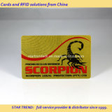 VIP会員のための金属金の印刷PVC磁気ストライプのカード