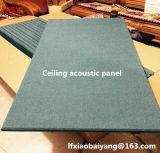 Panneau de plafond de panneau de mur de tissu d'écrans antibruits de fibre de verre de tissu