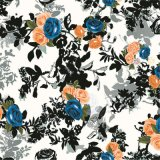 Tissu de soie 100% Pure Natural Silk Digital Printing (SZ-0034)