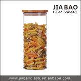 frasco hermético do vidro de Borosilicate 1680ml com tampa de bambu