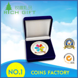 記念する金属の古い硬貨メダル円形浮彫りの版によってカスタマイズされるレプリカの挑戦硬貨、エナメルを押す青銅は円形浮彫りのスポーツの銅メダル硬貨に記章を付ける