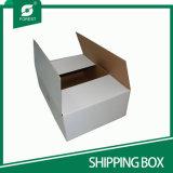 Caixa ondulada Foldable branca do Rsc do logotipo feito sob encomenda para o transporte