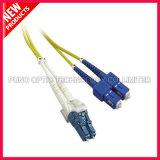кабель двухшпиндельного однорежимного волокна SC LC 3.0mm оптически