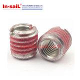Inserções rosqueadas coladas para metais