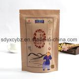 El papel de Kraft modificado para requisitos particulares talla del alimento se levanta la bolsa de Doypack con la cremallera