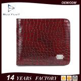 Бумажник неподдельной кожи женщин бумажника кожи крокодила зерна способа естественный