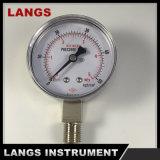041 Alto Nivel acrílico Manómetro medidores de aire de acero inoxidable