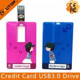 Memoria Flash de la tarjeta de crédito USB3.0 de la insignia de encargo (YT-3101-3.0)