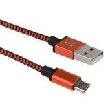Кабель заряжателя данным по Nylon молнии USB мобильного телефона микро- поручая